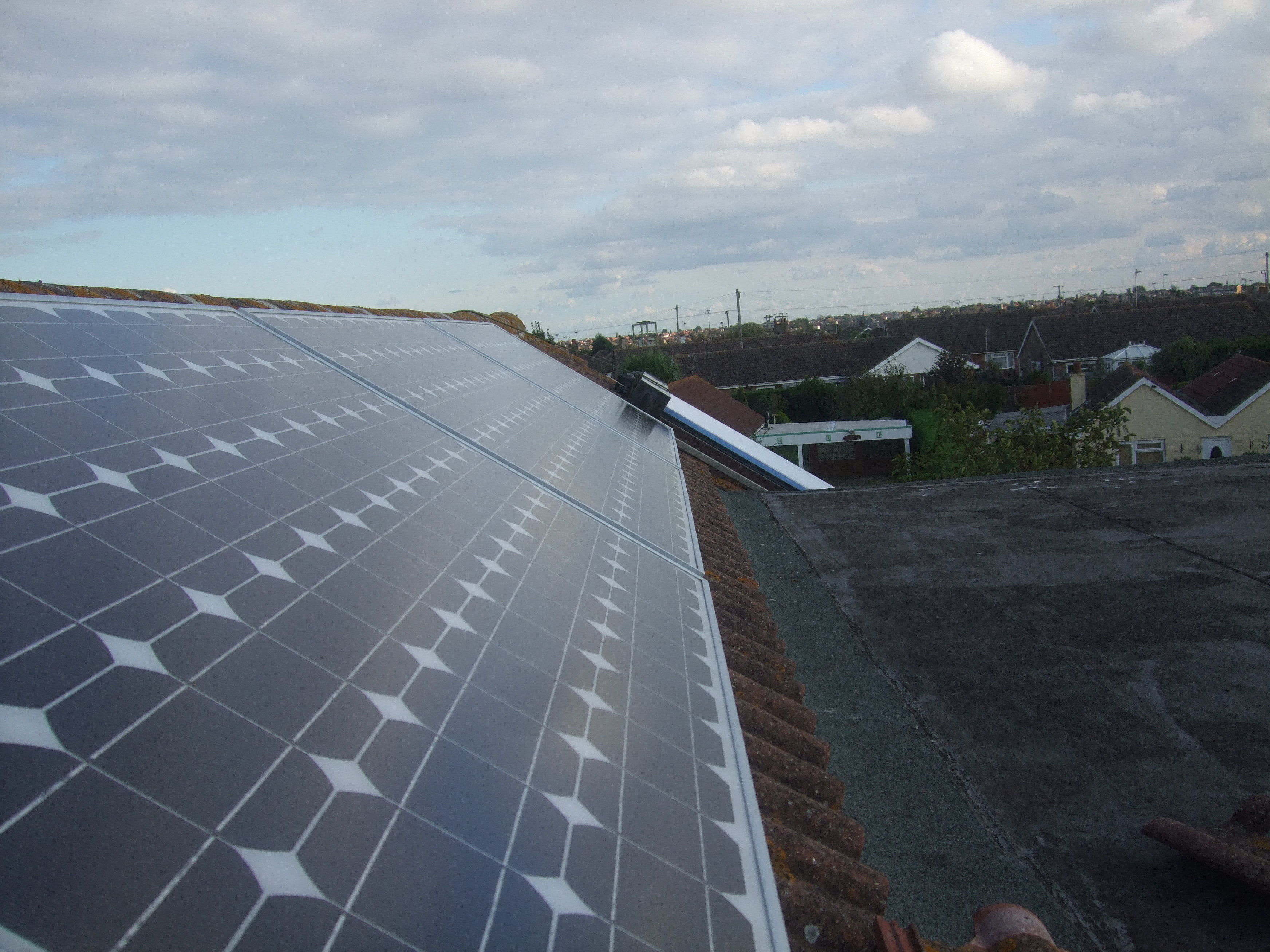 10 panel solar PV on roof